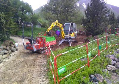 terrassement Montagne verte-Hautes Alpes