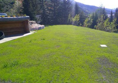 Création espace vert vers l'Argentière la Bessée