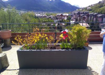 Création jardin par Montagne verte à Montgenèvre