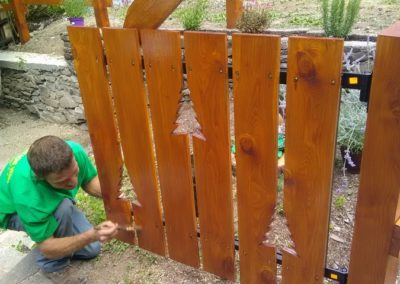 Création clôture à proximité de Briançon